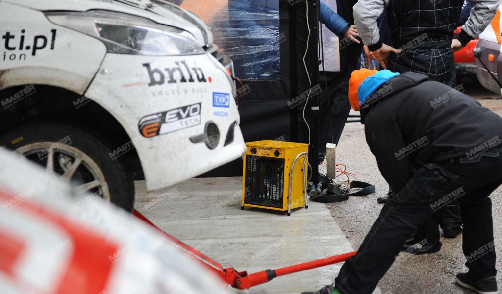 nagrzewnica elektryczna master ogrzewa uczestników wyścigu