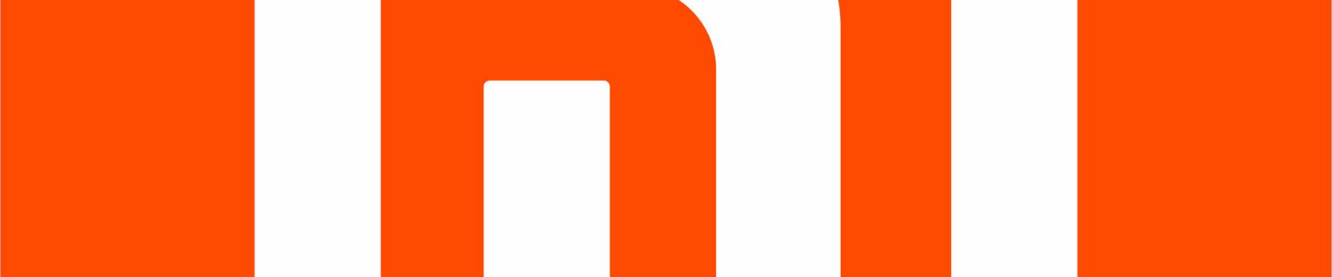 logo xiaomi. miały napis przypominający 'mi' na pomarańczowym tle