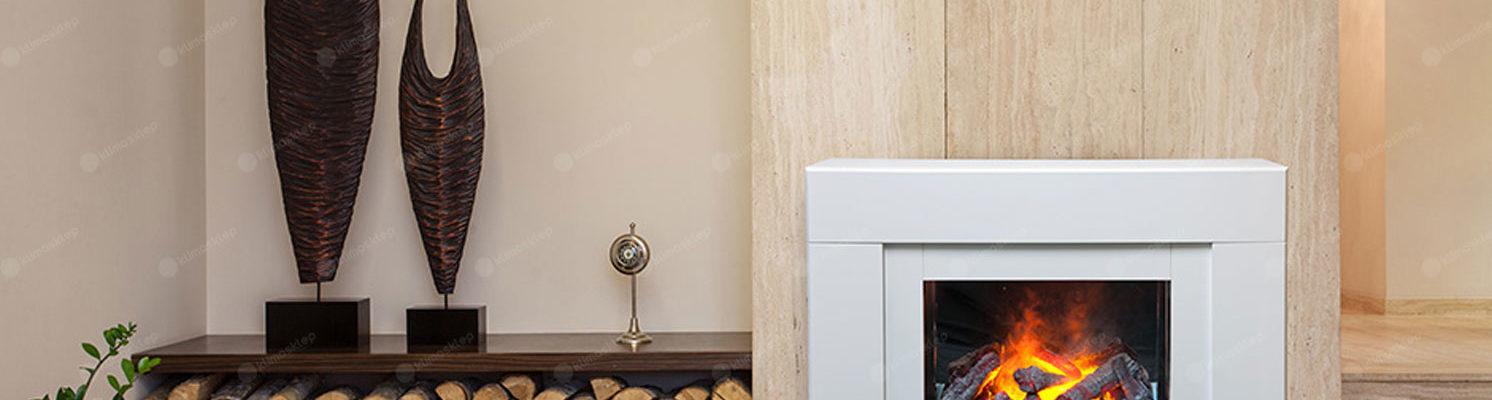 kominek elektryczny dimplex cavalii w salonie