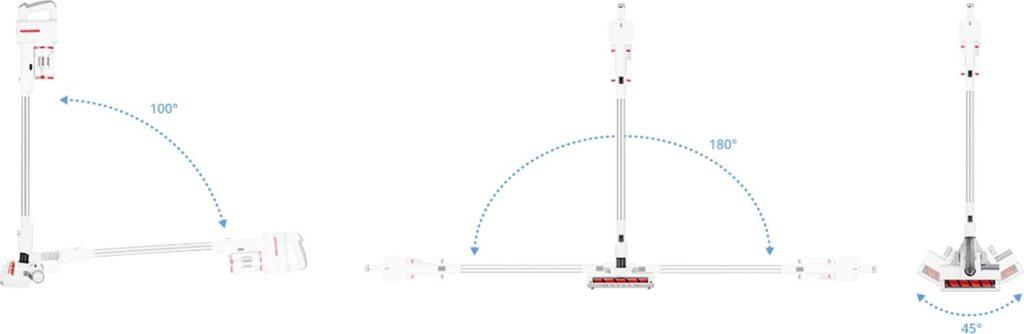 ergonomiczna konstrukcja odkurzacza robojet powerup