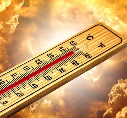 przykład zmniejszania temperatury poprzez klimatyzator przenośny